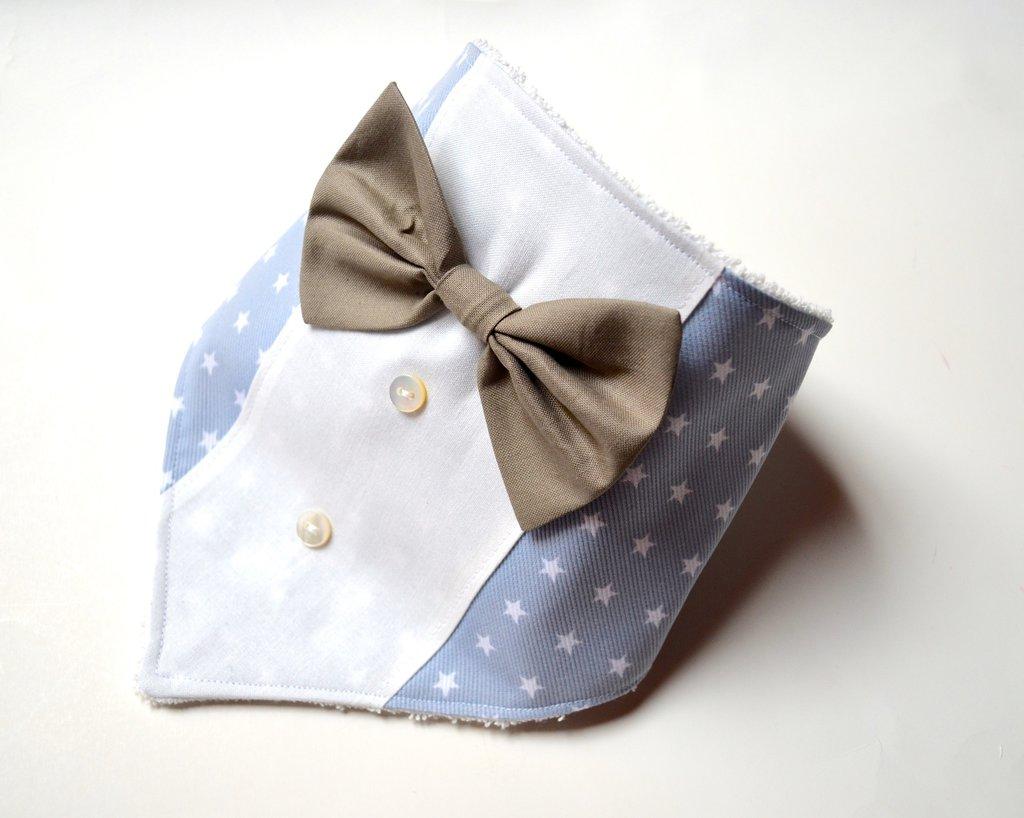 Bavaglino bandana con papillon bambini per la pappa for Papillon per bambini