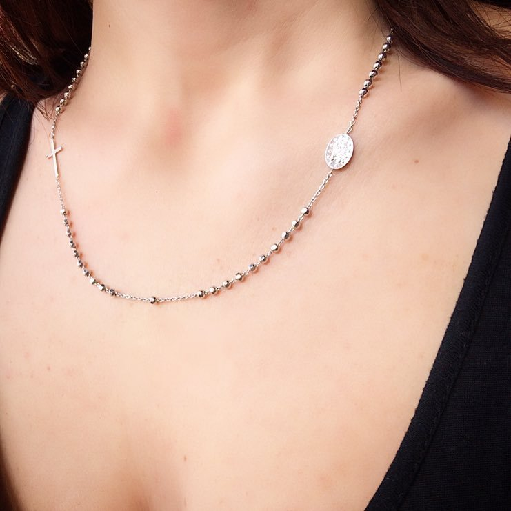 Collana rosario in Argento 925