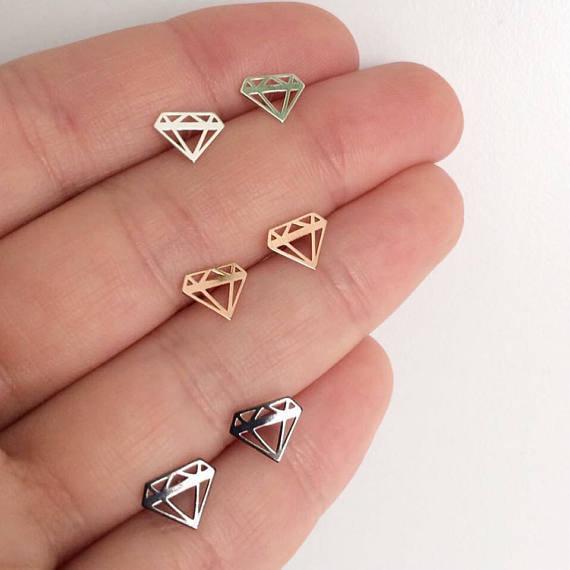 Orecchini Diamante in Argento