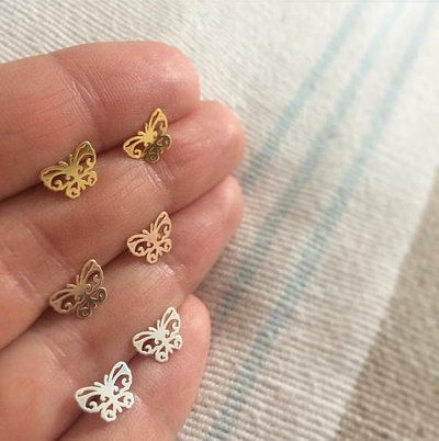 Orecchini Farfalla in Argento