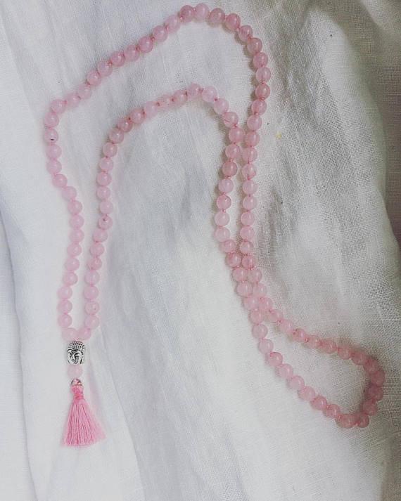 Japamala in Quarzo rosa