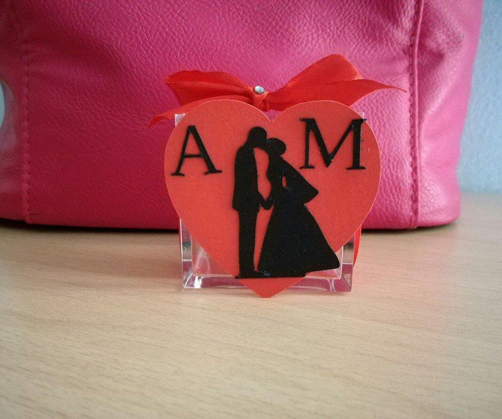 Bomboniera porta confetti sacchetto plexiglass scatolina sposi matrimonio nozze