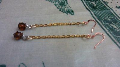 """orecchino """"lungo"""" oro"""
