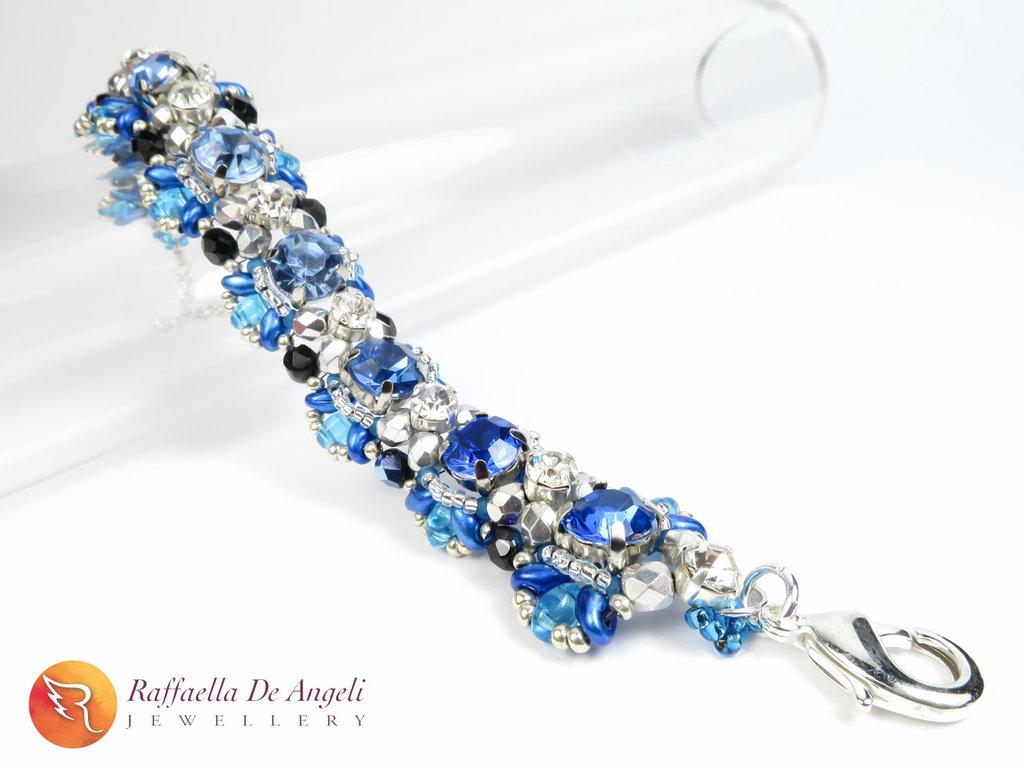 Bracciale superduo blu Agnese 04