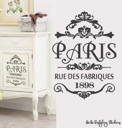 Adesivo shabby chic PARIS