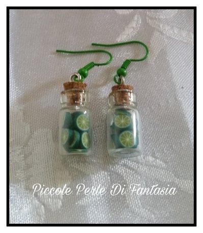 Orecchini pendenti bottiglietta