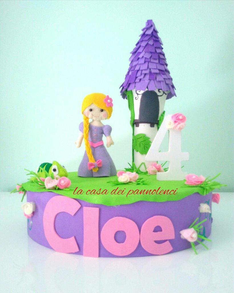 Super Torta in gomma crepla Rapunzel - Feste - Bomboniere - di La casa  VO54