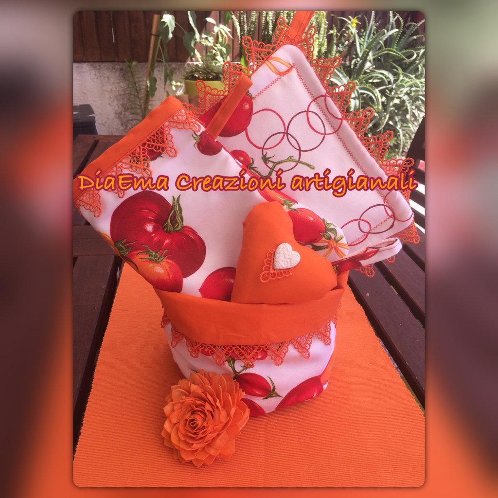 Set da cucina arancio