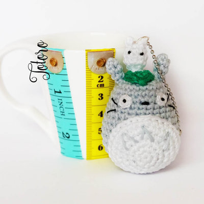 Totoro portachaivi amigurumi uncinetto
