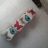 Porta rotoli cartaigenica con fantasia di farfalle per tre rotoli