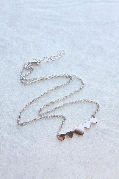 Collana con cuori pendenti in oro Rosa