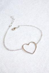Bracciale d'argento con cuore