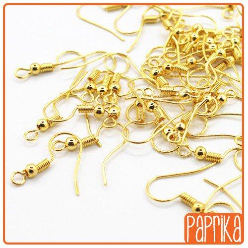 50 monachelle dorate per orecchini