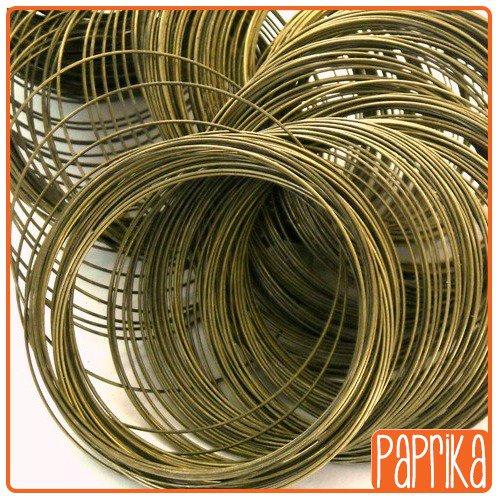 5 x giri di cavo memory wire per bracciali - bronzo