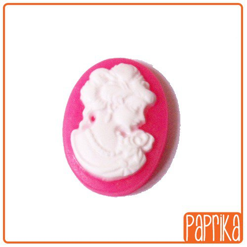 2 Camei resina rosa 13x18mm