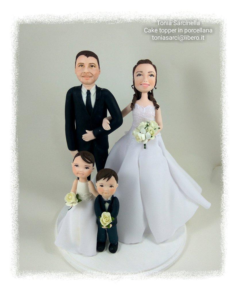 Cake topper 10° anniversario matrimonio