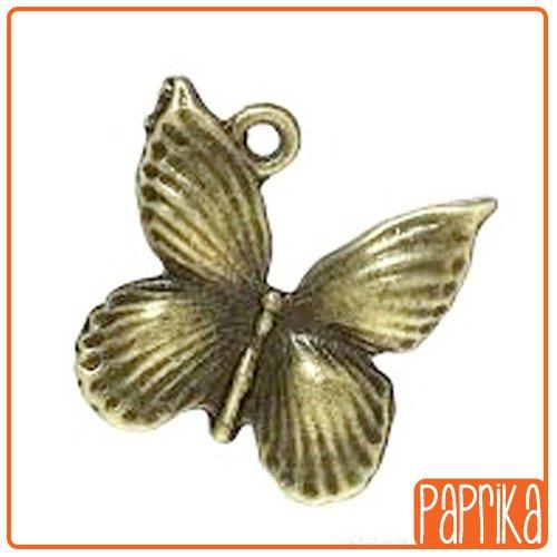 2 Charms Farfalla bronzo