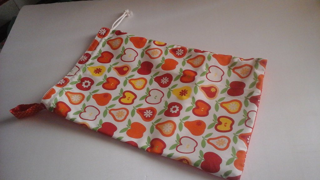 Sacca porta pane in arancione
