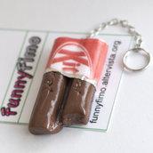 Portachiavi KitKat in fimo!