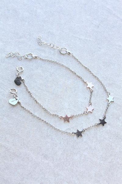 Bracciale con stelle d'argento