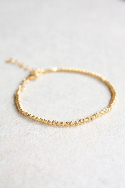 Bracciale Sfaccettato d'oro