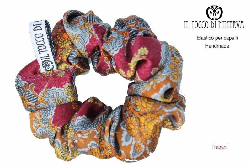 Elastico per capelli seta Trapani – realizzato a mano – HandMade