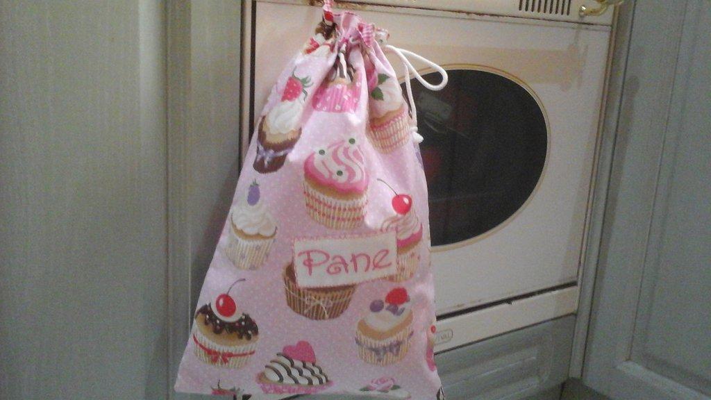 Sacca pane cup cake in fucsia