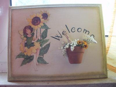 Targhetta benvenuti