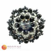 Anello cristallo nero Beatrice 07