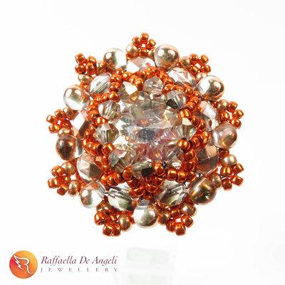 Anello cristallo rame Beatrice 09