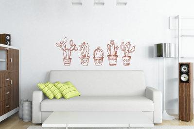 Adesivo murale cactus