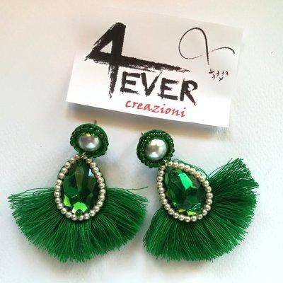 Orecchini con frange Emerald