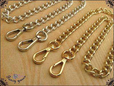 Catena per borsa, lunga cm.40 x mm.12 disponibile in 7 misure e 2 colori oro e argento