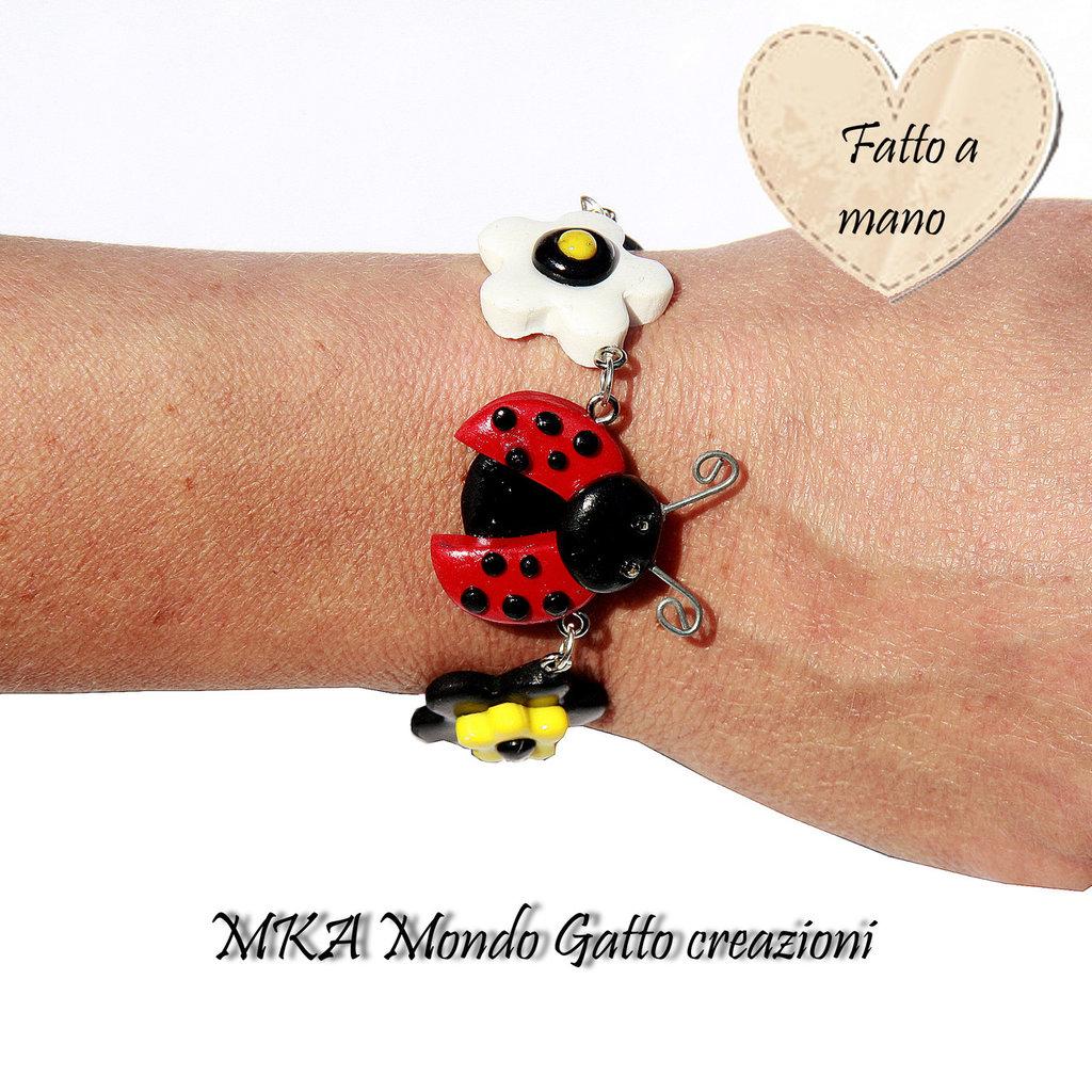 Bracciale in Fimo - Ladybug