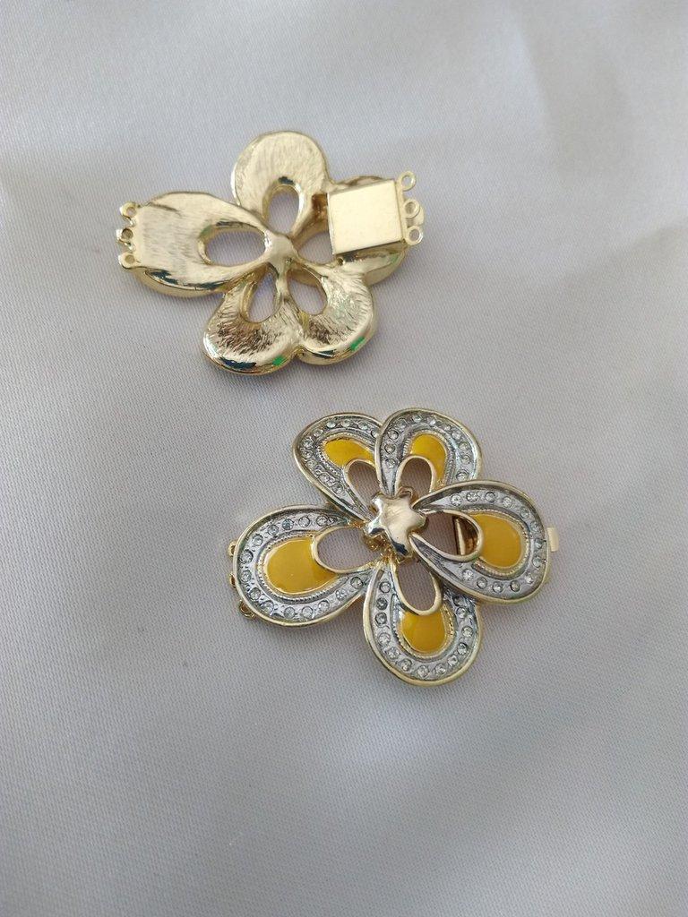1 x Chiusura Fermaglio  per collana, bracciale a 3 fili