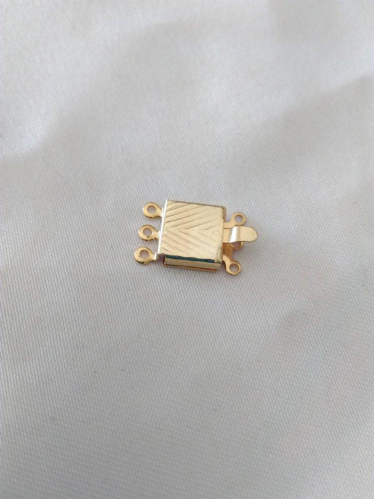 chiusura fermaglio per collana, a 3 fili in metallo dorato