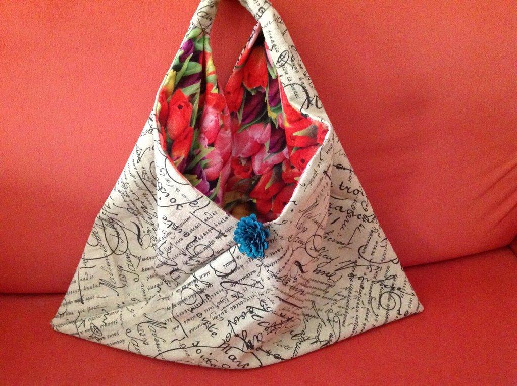 shopper origami in cotone grezzo