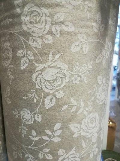 Pannolenci stampato rose color lana 50x90 cm