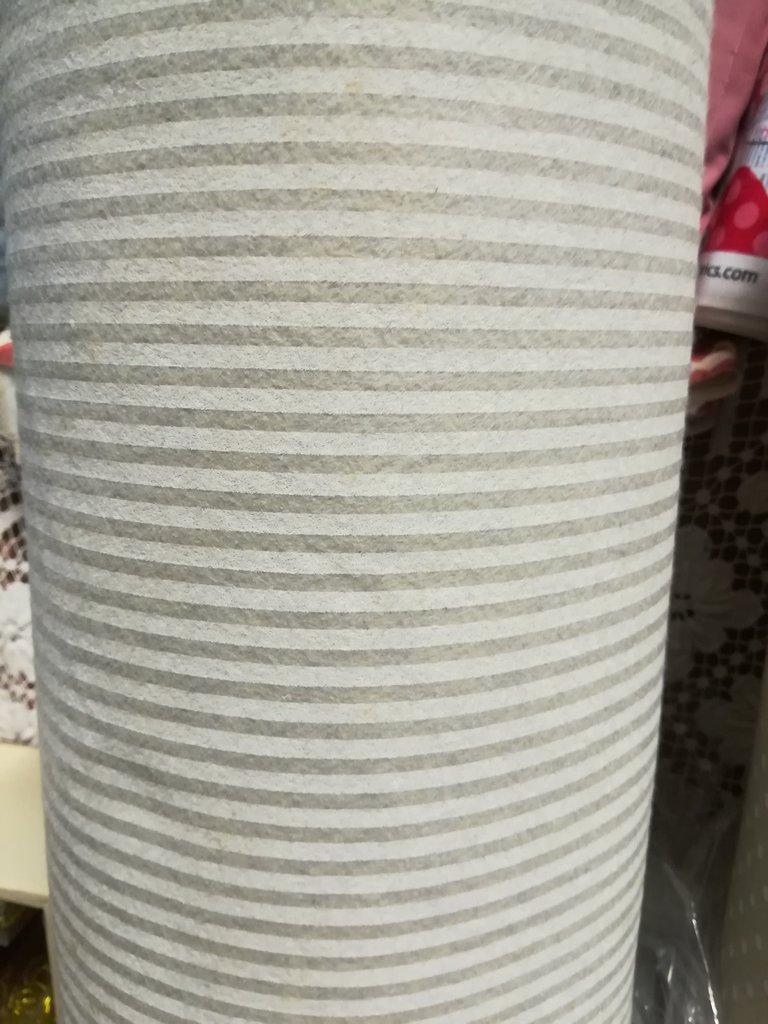 Pannolenci stampato righe color lana 50x90 cm