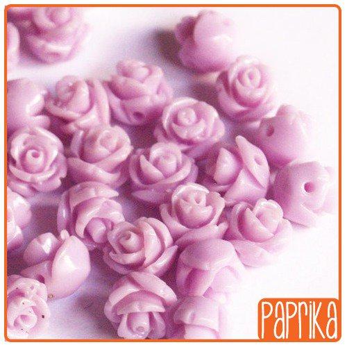 2 Perline Rose forate 8mm Viola