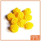 2 Perline Rose forate 12mm Giallo