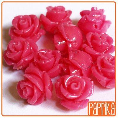 Perlina Rosa forata 12mm Rosa shocking