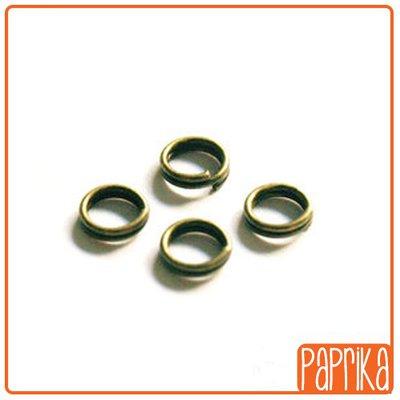 50 anellini brisè (doppi) bronzo