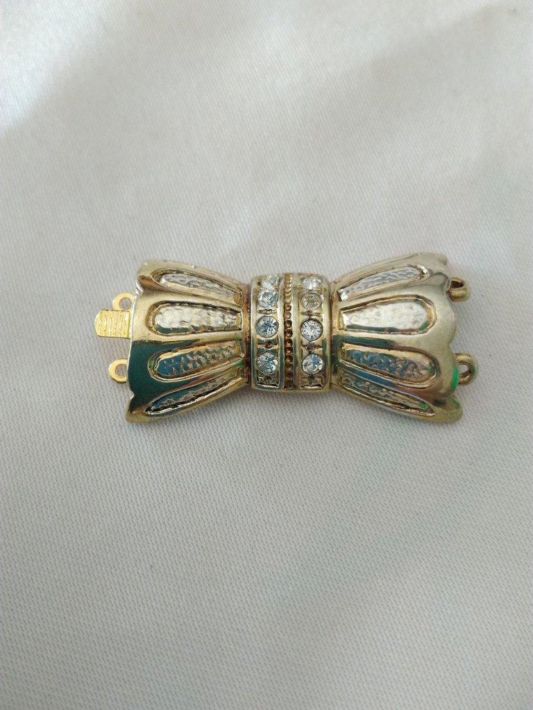 1 x chiusura fermaglio per collana, bracciale  a 2 fili