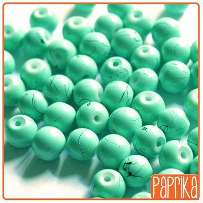 10 perle di vetro effetto turchese 8mm