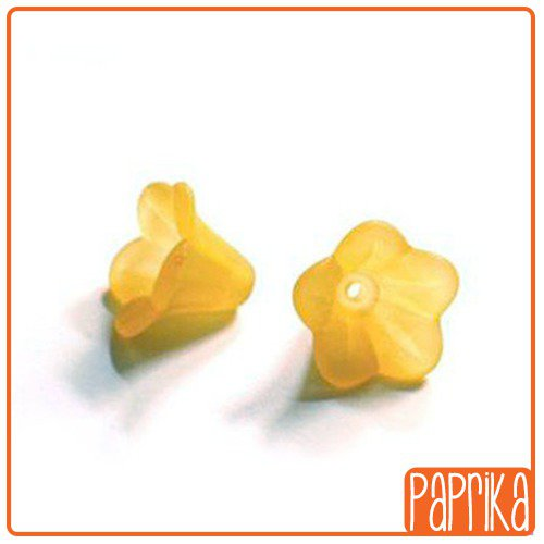 20 Perline Acriliche fiore a Campanella - Arancione