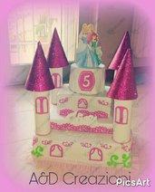 torta finta castello delle principesse