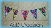 banner personalizzato compleanno spiderman