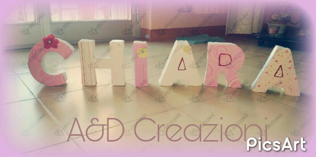 lettere decorative 3d