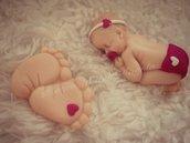 Piedini e bebè in fimo